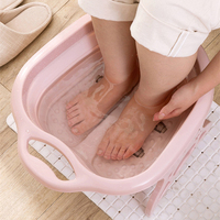 Footbath plain foaming massage bucket Foldable Plastic foot bath basin large heightening footbath fording barrel Reduce Pressure
