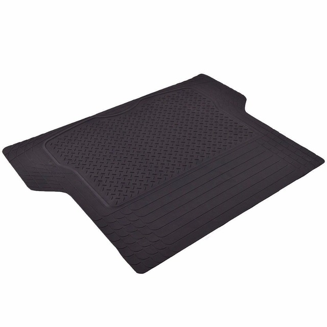 Black Trunk Cargo Floor Mats All Weather Heavy Duty PVC Universal Cars SUV Van AT4514