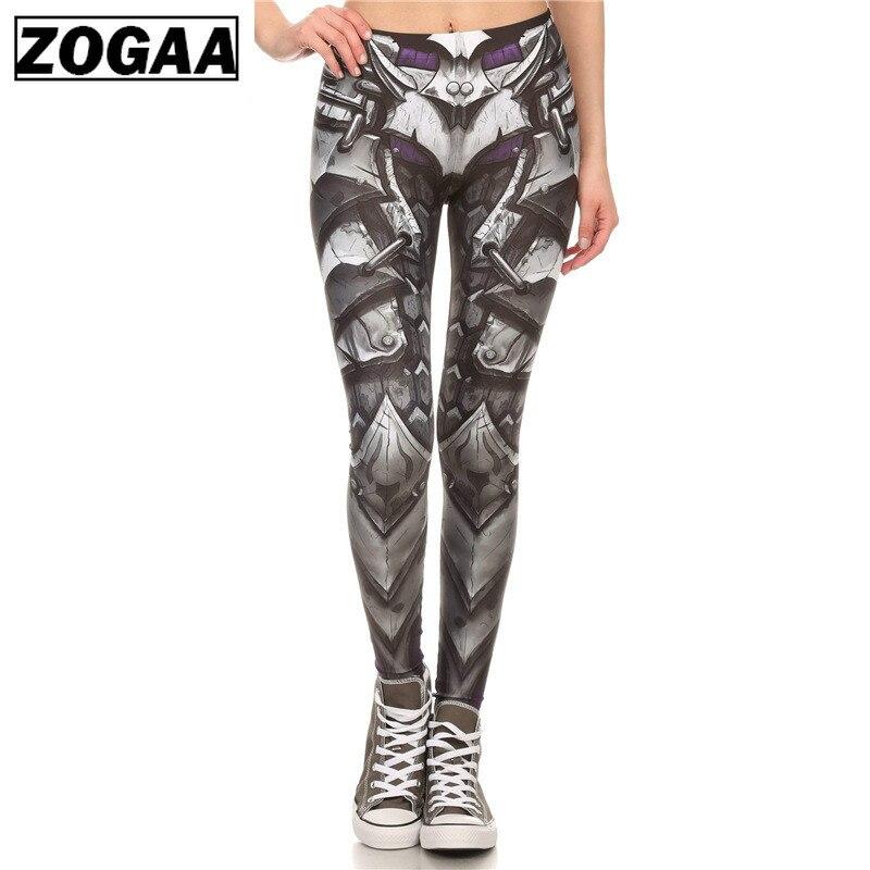 ZOGAA Brand New BARBARIAN Skull Women Leggings Printed Leggins Woman Pants  Black Leggings Women 2019 Summer