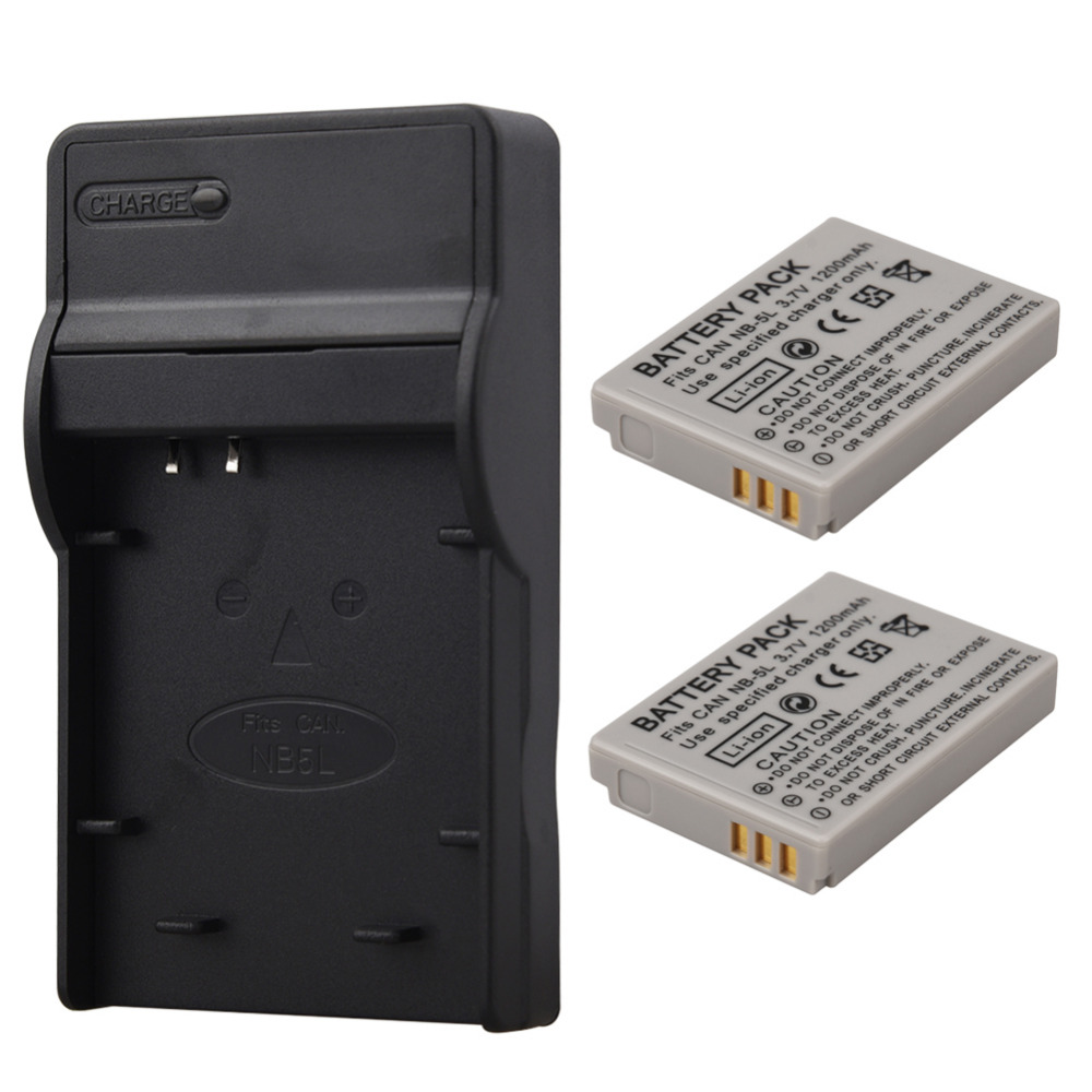 2x1200mah Nb 5l Nb 5l Battery Charger For Canon Sx200is