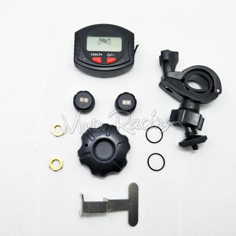 Master Racing font b TPMS b font Waterproof Motorcycle Tire Pressure Monitoring System Motorbike LCD bracket