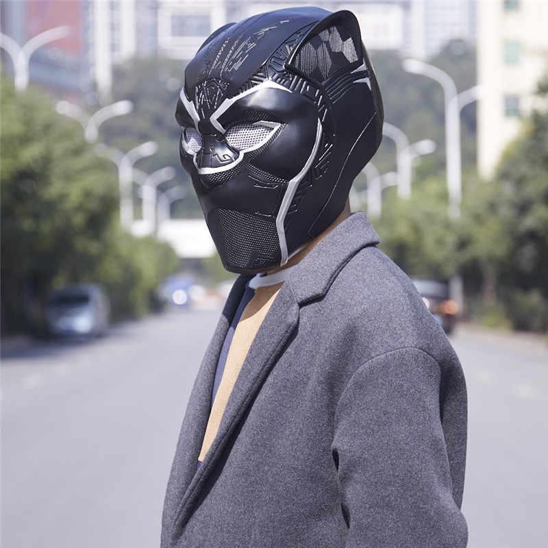 Новый Moive 2018 Черная пантера шлем маска фильм Капитан Америка Civil War Хеллоуин, маска для костюма косплей мужская маска из ПВХ для вечеринок