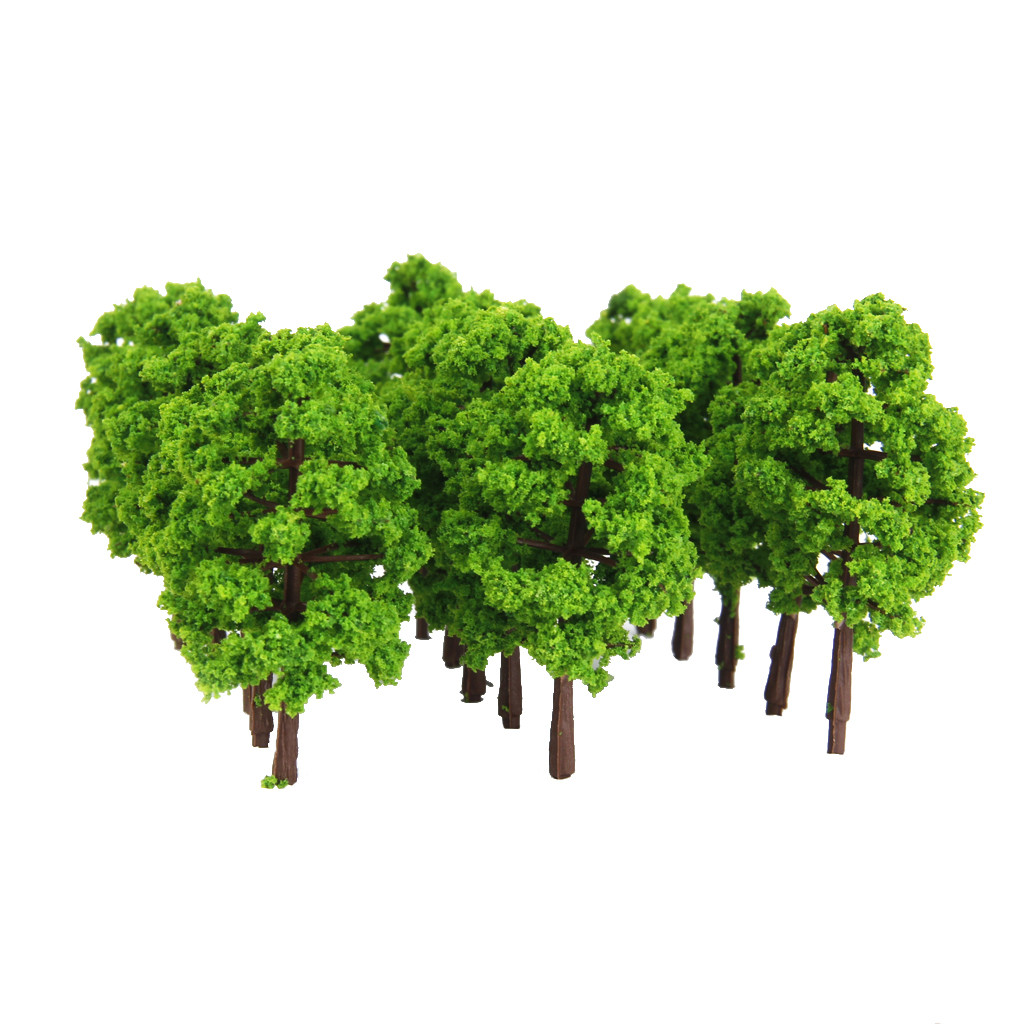 20 Pieces Model Tree Architecture Train Railway Wargame Diorama Scenery 1:150 image