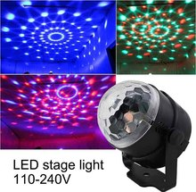 110V 220V Mini RGB LED Crystal Magic Ball Stage Effect Lighting Lamp Bulb Party Disco Club DJ Light Laser Show Lumiere Beam SL01 aucd mini remote red green laser light mixed aurora rgb led stage lighting party disco show dj home wedding effect lighting