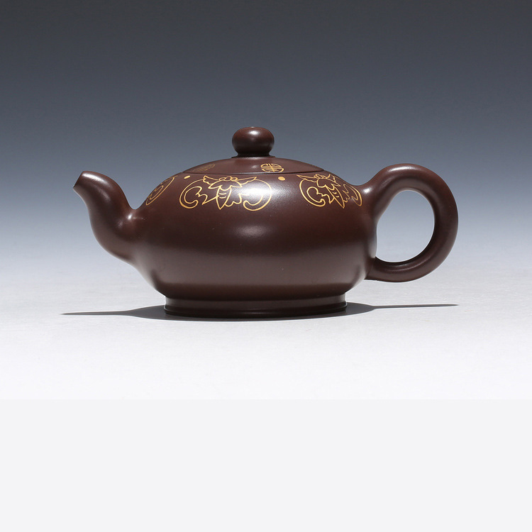 Yixing sont recommandés par l'assistantengineer Wang Hongjuan tout à la main peinture plat perle céramique thé-pot voyage thé ensemble