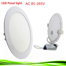 Ultra Thin LED Panel Light 3 W 6 W 9 W 12 W 15 W 18 W driver included AC85-265V Recessed lamps for ceiling panels for indoor lig(China)