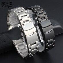 3e42ec30e2d9 Accesorios de reloj correa de acero inoxidable para hombre Casio Seiko  Citizen Tissot Armani 18 20 22mm señoras Correa impermeab.