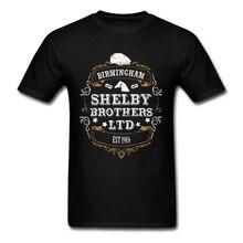 Peaky Blinders футболка с коротким рукавом мужская одежда поп Команда Хлопок Crewneck плюс размер ТВ 3d футболки