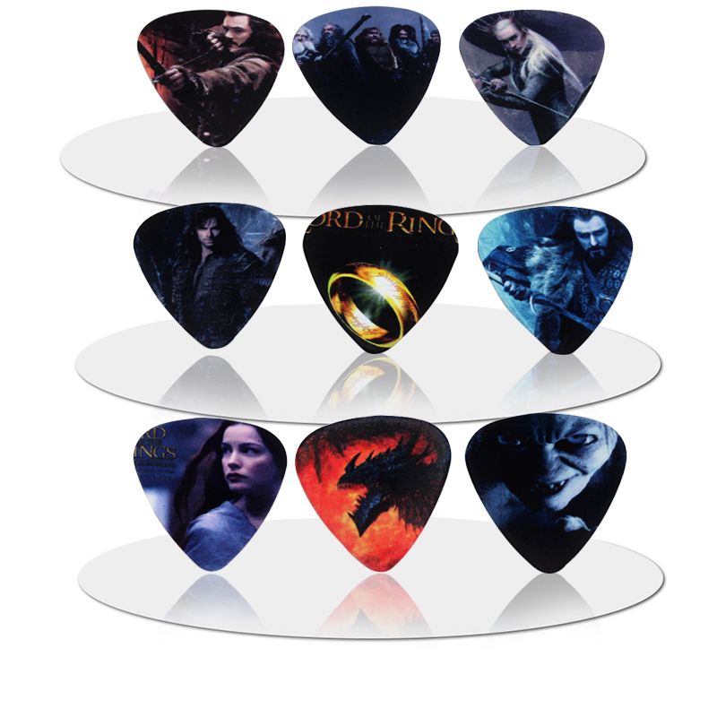 10pcs New Medium Guitar Picks Plectrums Rock Bands Guitar Picks Standard/Triangle 1T5-8