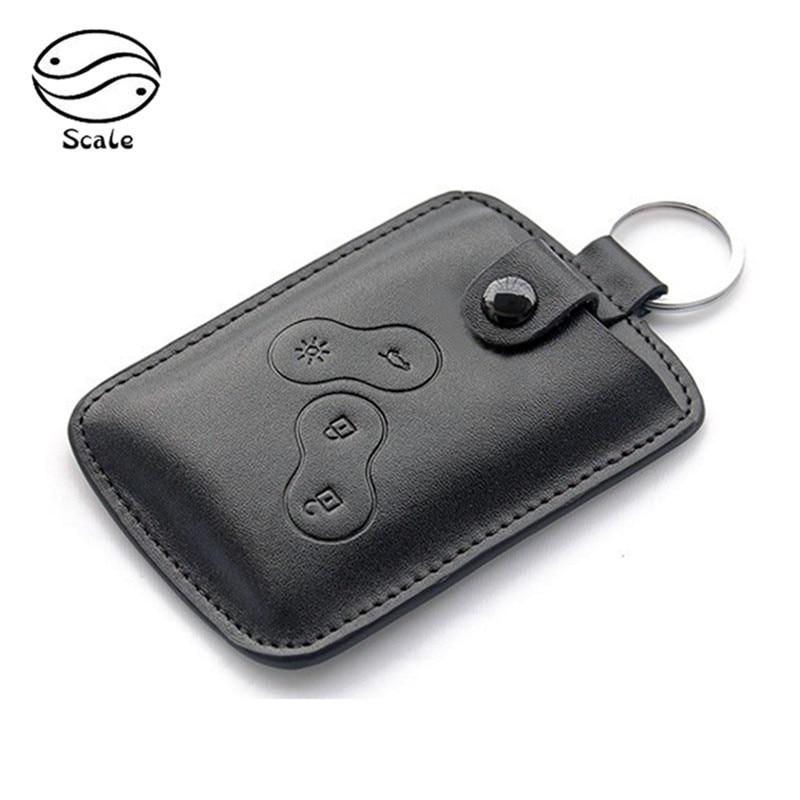 Men Leather Key Cover KeyRing For Renault Clio Scenic Megane Duster Sandero Captur Twingo Kadjar Koleos Leather KeyChain Key Bag