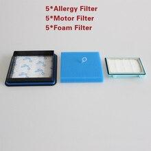Набор фильтров из пены для двигателя Philips, 15 моющихся наборов фильтров для пылесоса Philips Pro Compact FC9331 / 09FC9332 / 09 FC8010 / 01