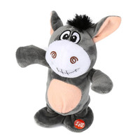 Novelty Adorable Interesting Speak Talking Record Walk Donkey Plush Kids Toys Slime Soft Toy Brinquedos Toys
