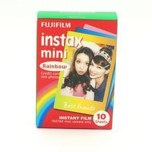 Подлинная Fujifilm Instax Мини 8 Пленочной Радуга Fuji Мгновенный Фотобумага 10 Листов Для 8 50 s 7 s 90 25 Камеры