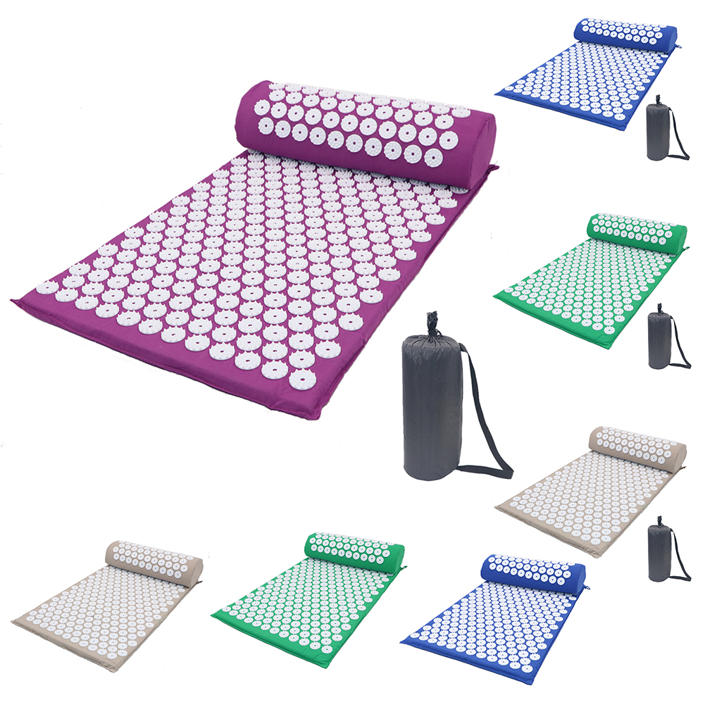 Acupressure Massager Mat Relaxation Relief Stress Tension Body Yoga Mat Spike Relieve Stress Pain Cushion Set Dropshipping