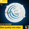 Nova 5 W 12 W 15 W 18 W 23 W LED Anel Círculo PAINEL de Luz AC85-265V SMD 5730 LED Rodada placa Do Teto da placa lâmpada circular