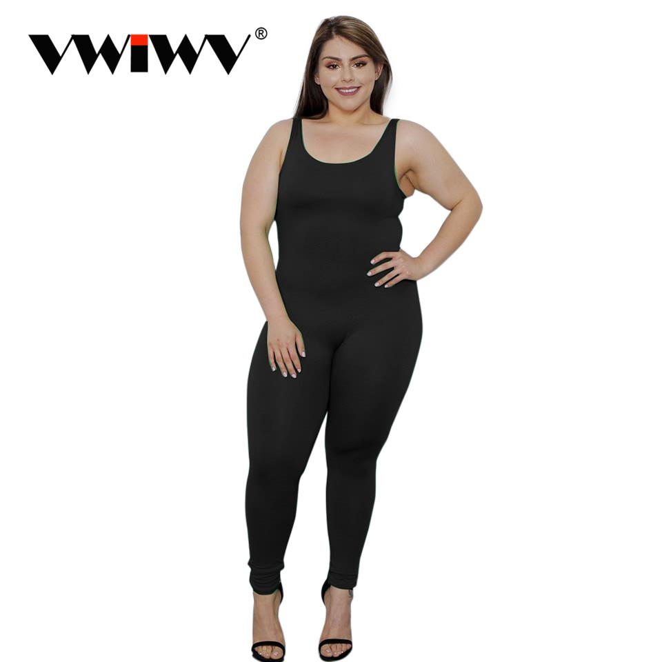 VWIWV Sexig Casual Wear Jumpsuit Fitness Overaller Jumpsuit For Women - Damkläder - Foto 1