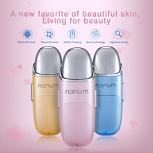 ФОТО The  Nano Spray moisturizing Beauty Massager Mini rechargeable facial beauty humidifier humidification water meter