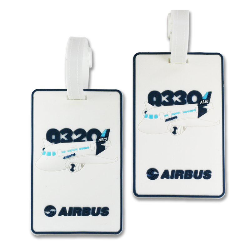 AIRBUS A320 A330 White Soft Tag for Travel Bag Luggage Tag Special Tag