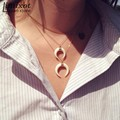White/Black Moon Pendant Necklace Retro Bone Double Horn Pendant Necklace Crescent Moon Gothic Pendant Low Price Wholesale