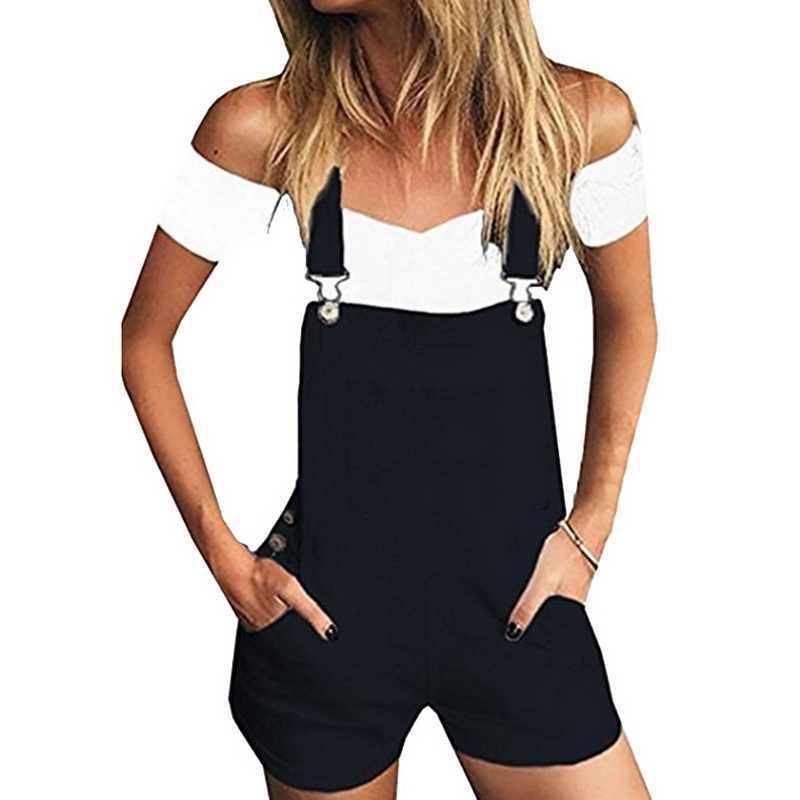 Laamei/новые джинсовые комбинезоны для девочек, женский милый купальный костюм с шортами 2019, летние модные джинсовые комбинезоны, шорты, белые спортивные костюмы с карманами