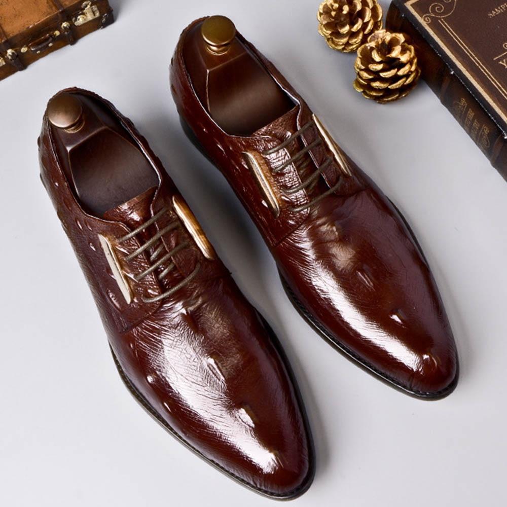 Apontou Balck De Gents Escritório Couro Chefe Genuíno Homens Negócios Preto Sipriks Derby vermelho Oxfords Elegantes Sapatos Masculinos Vinho Sociais Moda 4OPqqdw