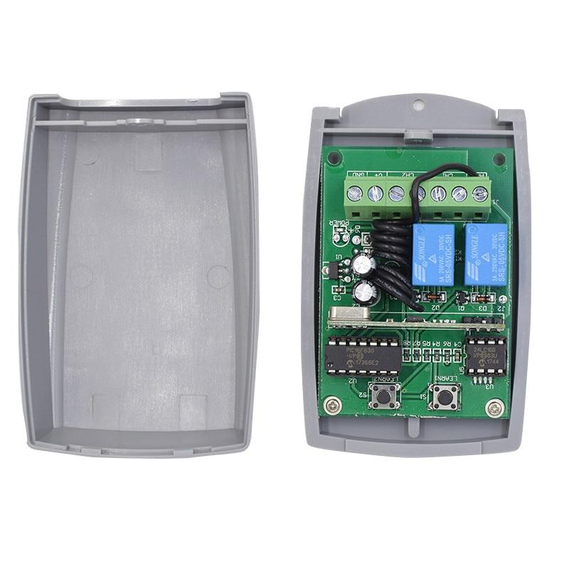 12-24V DC 433mhz Receiver Compatible DOORHAN V2 PUJOL DITEC Rolling Code Remote Control
