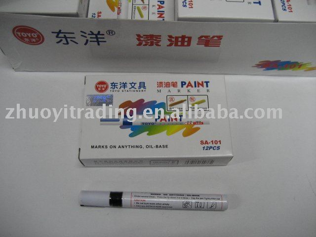 Paint pen , medium , Tag can be any solid surface , Wholesale and retail , MOQ 144 pieces