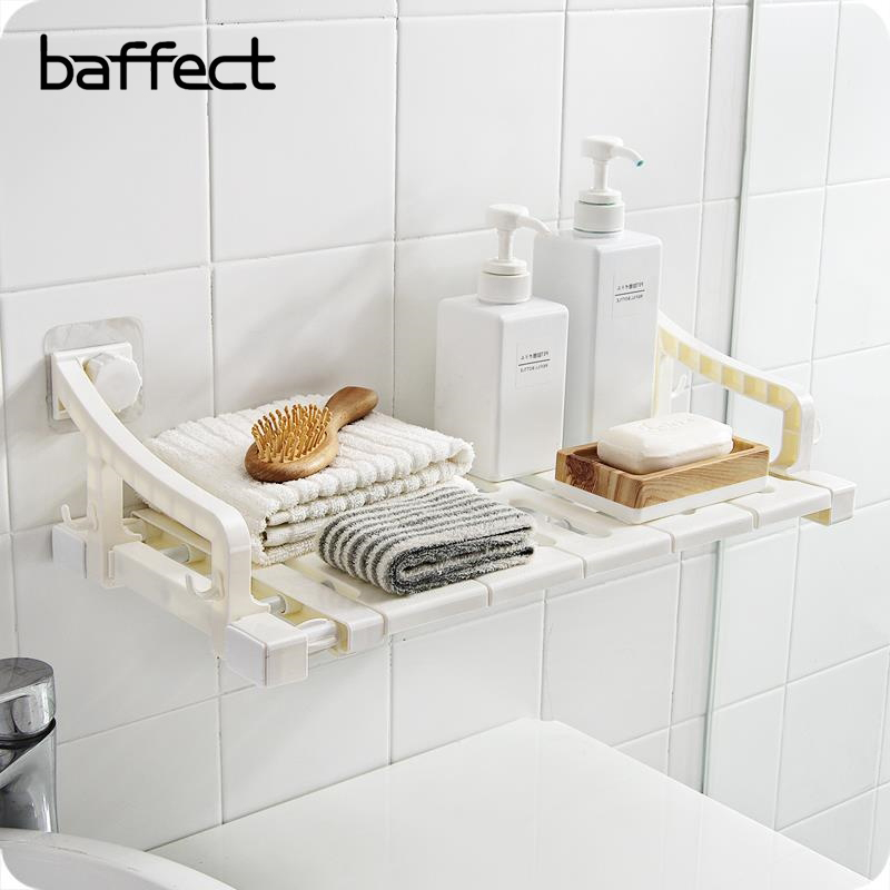 Toilet Suction Wall Storage Suction Cup Bathroom Shelf Free Punching  Washing Table Plastic Simple Shelf Storage Rack Corner