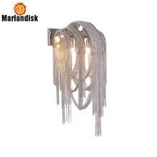 Модный современный настенный светильник, алюминиевые настенные лампы, серебристо-золотые прикроватные лампы G9* 2, индивидуальный алюминиевый настенный светильник s(BI-50