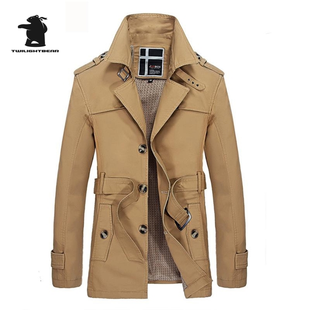 Brand Men's Long Trench Coat Autumn Fashion Designer Thin Coat With Belt Casual Business Trench For Men Pull Homme C8Fsqp2088