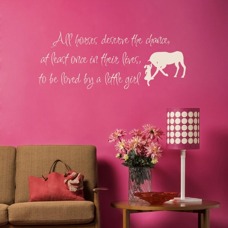 Mix Wholesale Order Love Horse Girls Western Wall Sticker