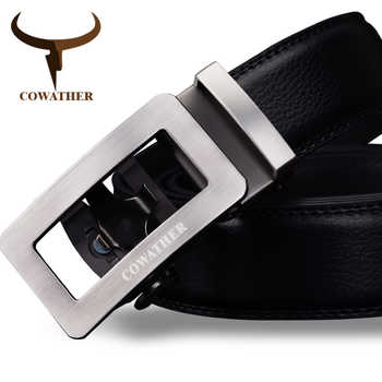 COWATHER 2019 luxury belts for men cow genuine leather male strap automatic buckle belt newest fashion design original brand - DISCOUNT ITEM  50 OFF Apparel Accessories