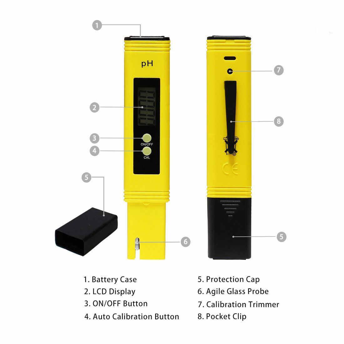 הדיגיטלי LCD PH מד עט של בוחן דיוק 0.1 אקווריום בריכת מים יין שתן אוטומטי כיול