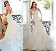 free shipping hot sexy backless long romantic Bridal Gown boda 2015 casamento cheap vestido de noiva curto a-line wedding dress