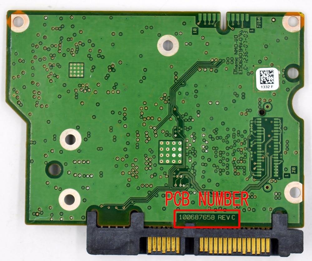 ST2000DM001 ST2000VS000 ST1000DM003 ST3000DM001 Hard Drive PCB 100687658 REV C