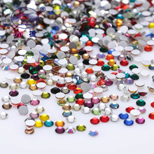 1440PCS Super Glitter Rhinestones 3d Nail Art Decoration Crystal Non Hotfix Flatback Glass Z129