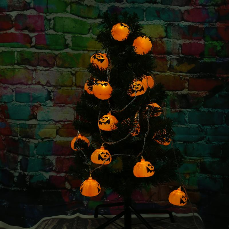 3 M Halloween Decoration Party Prop Pumpkin Lamp String Light 16 Lamp Holder Bar Fairy Lights Christmas Festival Lamp