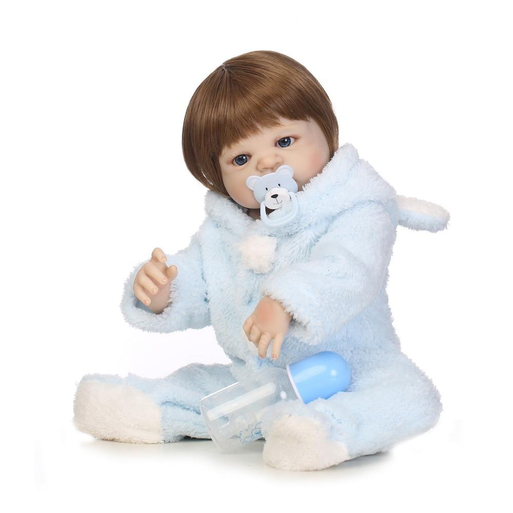 NPKCOLLECTION 22 Popular Victoria glued hair Lifelike Baby girl birthday gift full silicone Bonecas Bebe Reborn dolls