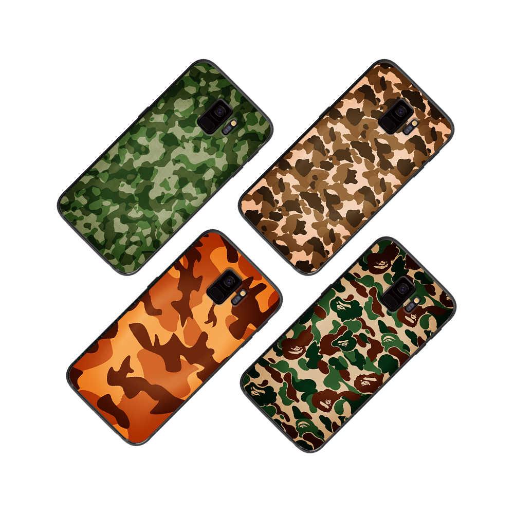 Цвет: синий, серый, зеленый желтый камуфляж для samsung Galaxy A5 A6 A7 A8 A9 2017 2019 плюс 2018 M10 M20 M30 мягкий черный чехол для телефона