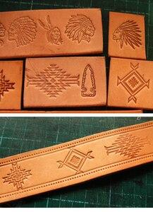 Image 3 - 13pcs הודי תרבותית אלמנטים דפוס יד עבודה ייחודי עיצוב גילוף אגרופים חותמת קרפט עור עם עור גילוף כלים