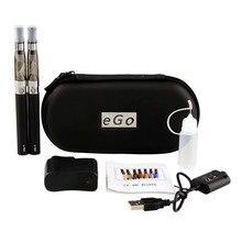 Double eGo font b Electronic b font Cigarette Kits Zipper Case E Cigarettes 650 900 1100mAh