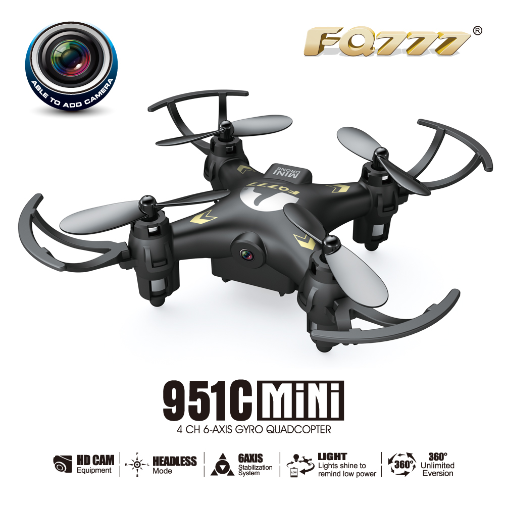 FQ777-951C MINI With 0.3MP Camera Headless Mode 2.4G 4CH 6 Axis RC Quadcopter RTF Support SD Card  F17687