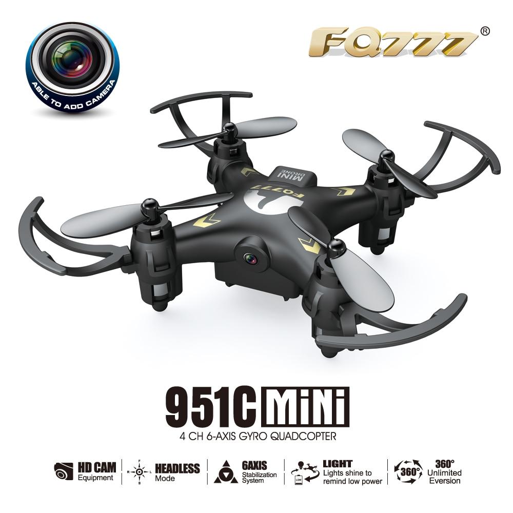 F17687 FQ777-951C MINI With 0.3MP Camera Headless Mode 2.4G 4CH 6 Axle RC Quadcopter RTF Support SD card Drone