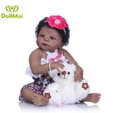 55CM blank skin Soft Silicone Reborn Dolls Baby Realistic Doll Reborn dolls Full Vinyl Boneca BeBe Reborn Doll For Girls Birthda