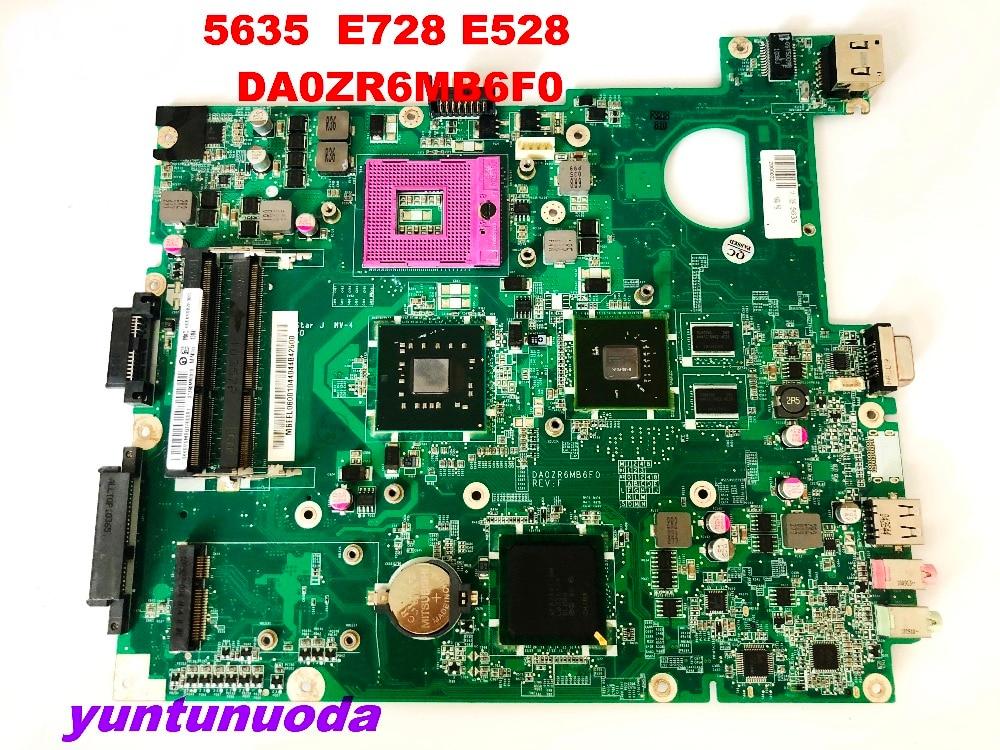 Original For ACER  5635 E528  E728  Laptop Motherboard 5635 E728  E528   DA0ZR6MB6F0 Tested Good Free Shipping