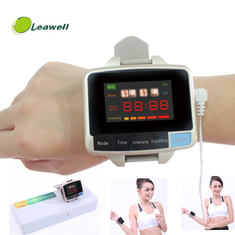 все цены на Leawell Physiotherapy healthcare 650nm laser light /wrist Diode low level laser therapy LLLT for diabetes hypertension treatment онлайн