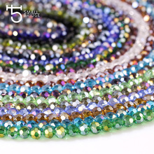 4mm Spacer Crystal Clear Bead Faceted Round Beads for Jewelry Making Charms Czech Glass Beads 100 Pcs Z158