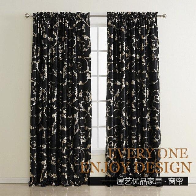 acheter livraison gratuite qualit troupeau impression noir argent rideau tout. Black Bedroom Furniture Sets. Home Design Ideas