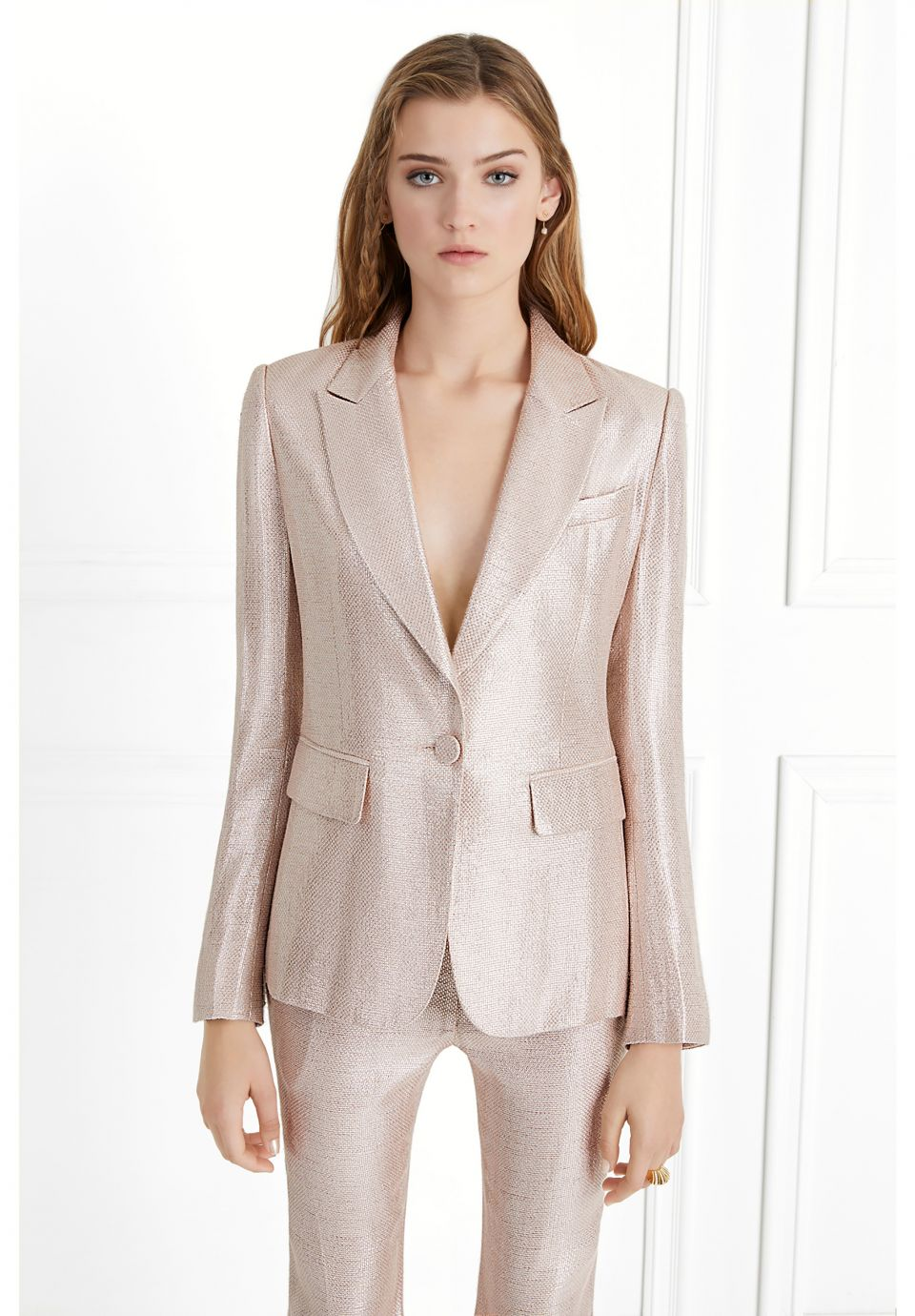 Ladies Slim Single Buckle Temperament Suit Ladies Business Formal Wear Custom Womens Suit Two-piece Suit jacket + Pants