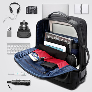 Image 5 - BOPAIกระเป๋าเป้สะพายหลังชาย15.6นิ้วแล็ปท็อปกระเป๋าเป้สะพายหลังสีดำขยายMochilaสำหรับผู้ชายUSBชาร์จกระเป๋าเดินทางNylon Rucksacks